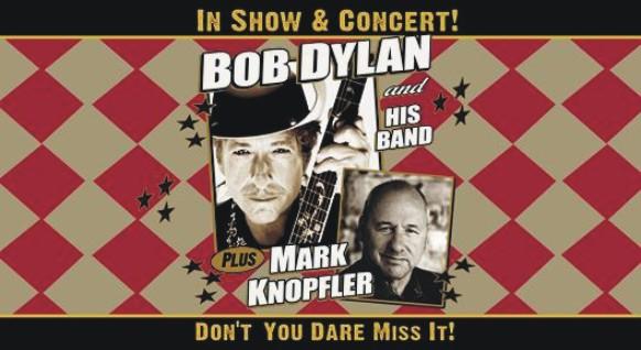 BOB DYLAN AND HIS BAND + MARK KNOPFLER - 20 Oktober 2011 Rotterdam, Ahoy