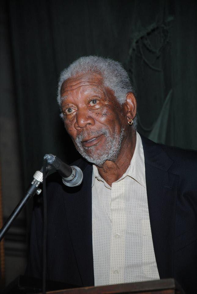Morgan Freeman speaks after receiving the Rhythm & Blues Music Lifetime Achievement Award
