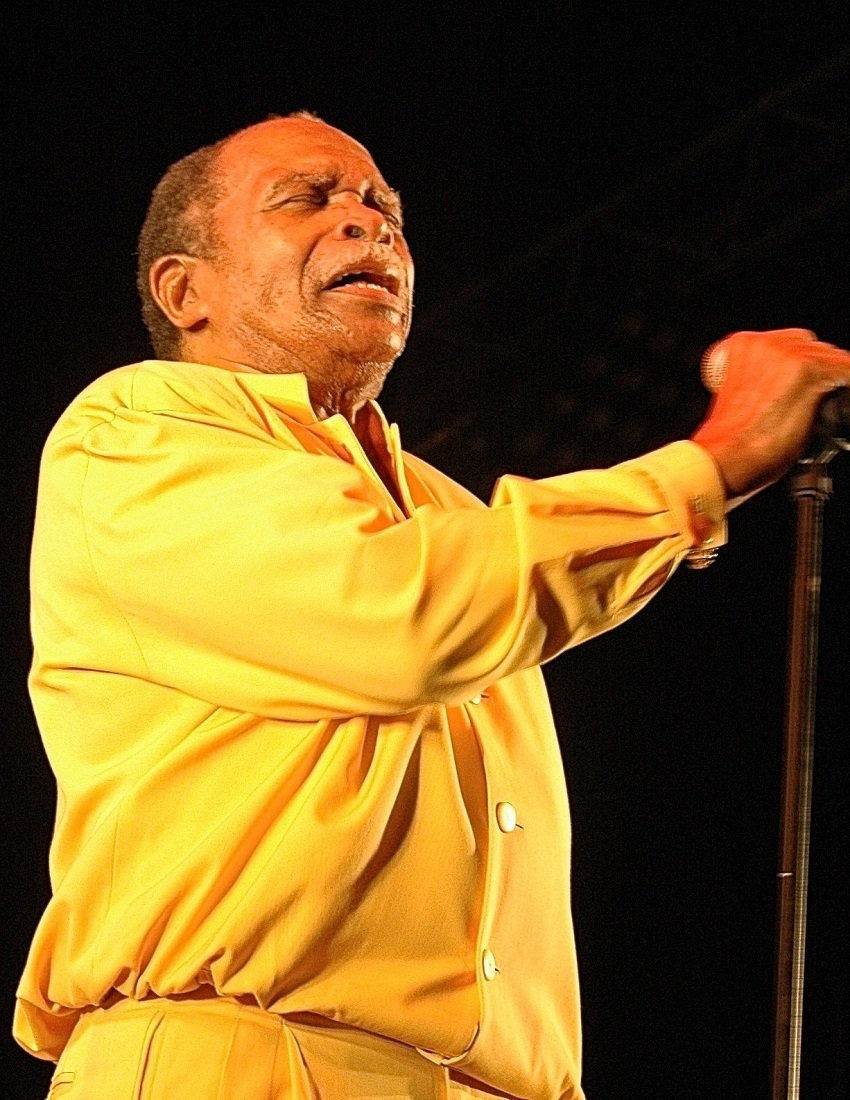 Otis Clay and band and Miki by Janet Patience