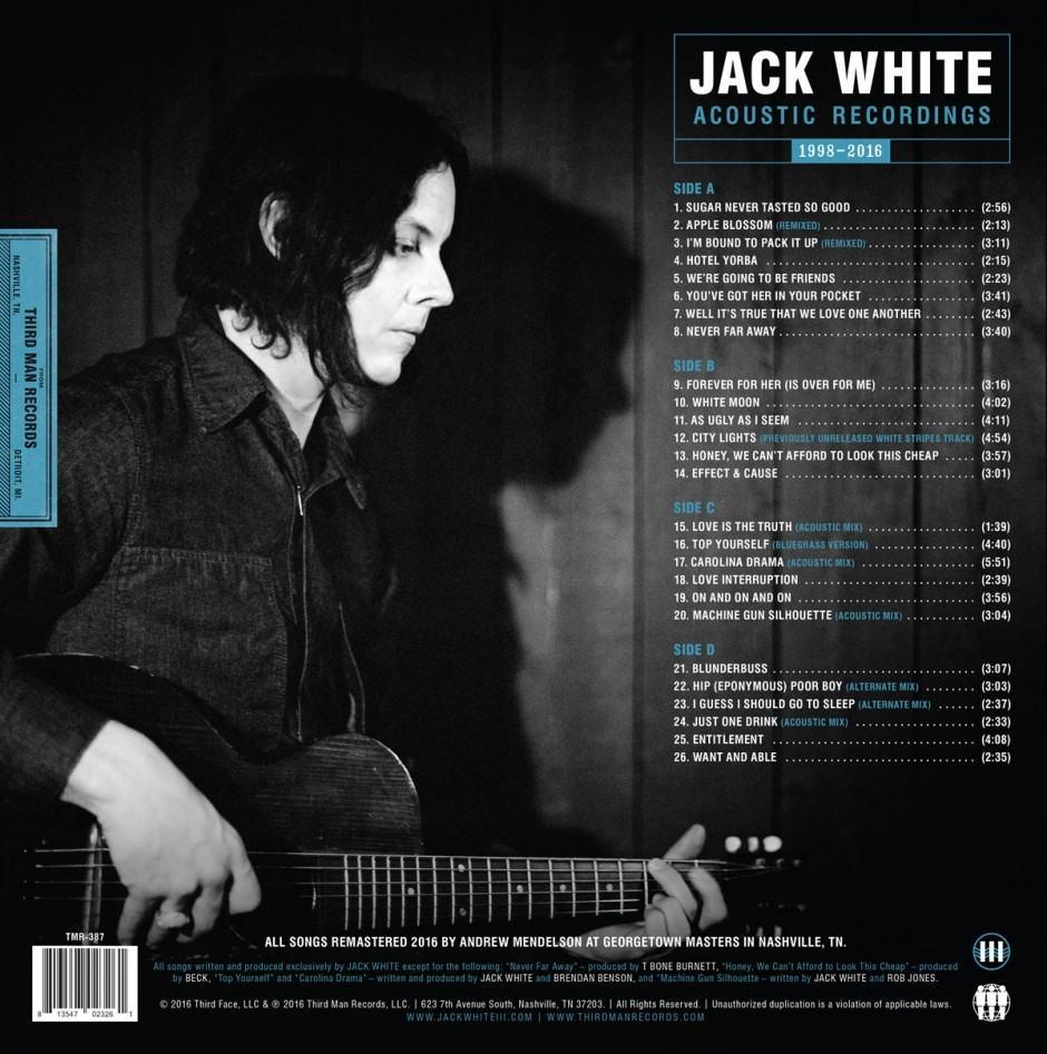 Jack White Acoustic Recordings vinyl tracks