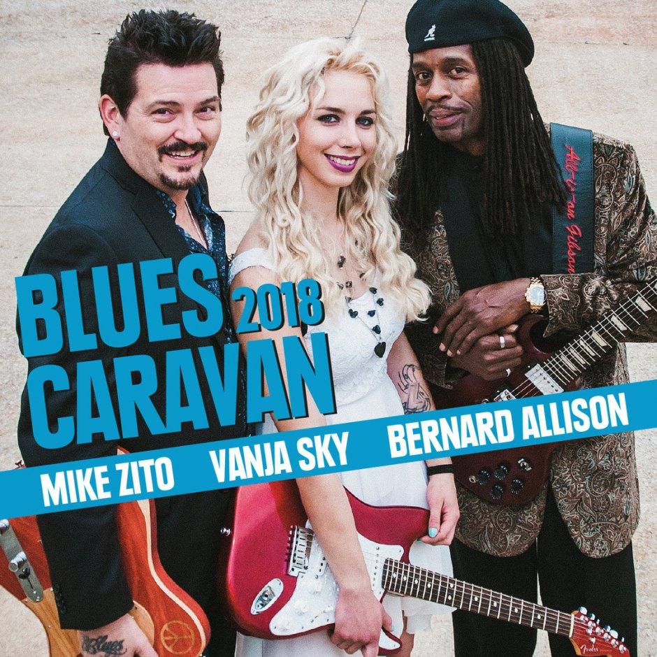BluesCaravan 2018: Mike Zito, Vanja Sky, Bernard Allison